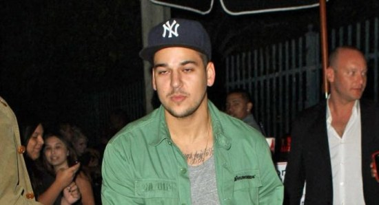 Rob Kardashian leaving a nightclub