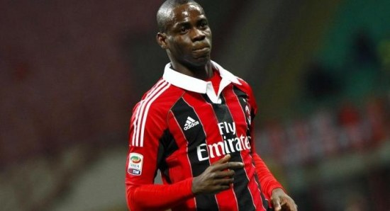 Balotelli scored twice on his debut on Saturday against Udinese