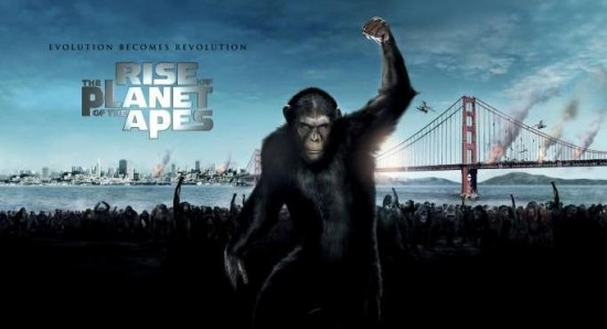 Rise of the Planet of the Apes pster