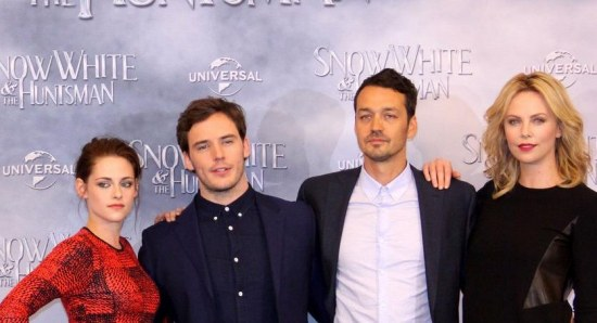 Sam Claflin at the premiere of Snow White and the Huntsman