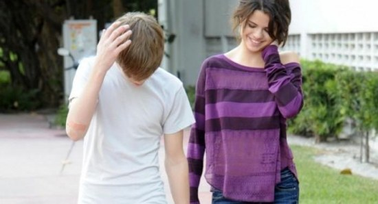 Selena Gomez and Justin Bieber in happier times