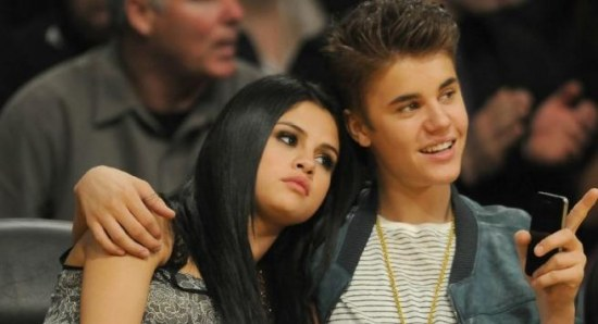 Selena Gomez and Justin Bieber during happier times