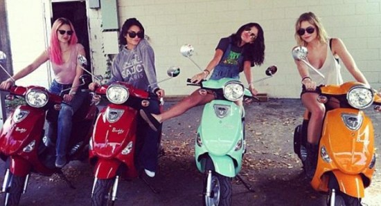 Selena Gomez with her Spring Breakers girls