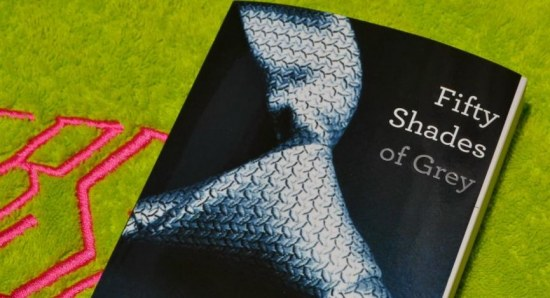 The book cover for 'Fifty Shades of Grey'