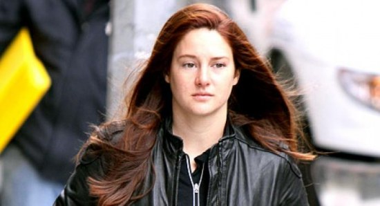 Shailene Woodley with red hair