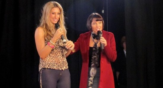 Stacey Solomon with Dannii Minogue