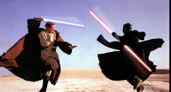 Ewan McGregor in a still from The Phantom Menace