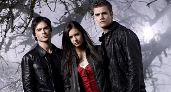 Paul Wesley with his The Vampire Diaries co-stars