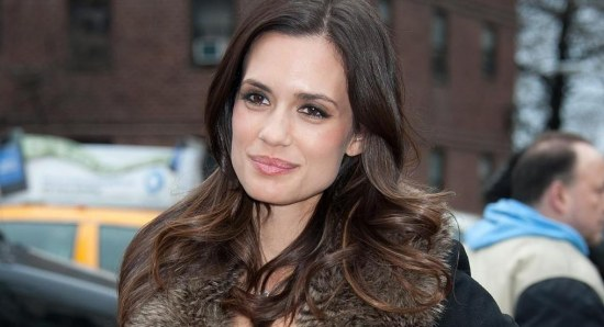 Torrey DeVitto smiles for the camera