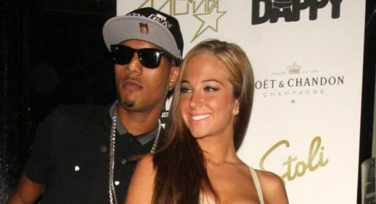 Tulisa with her former boyfriend and N Dubz singer Fazer