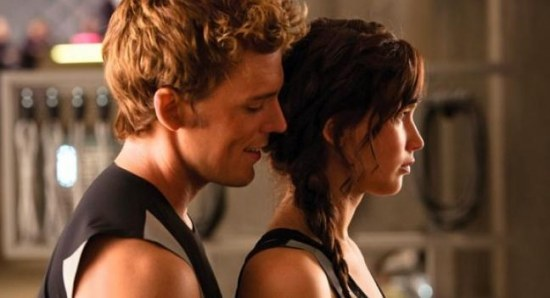 A still from 'Catching Fire' featuring Jennifer Lawrence and Sam Claflin