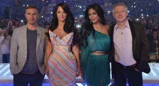 X Factor UK judges 2012