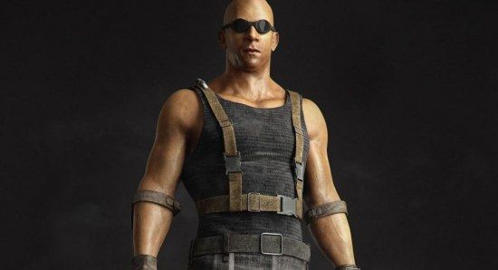 Vin Diesel in his Riddick get up