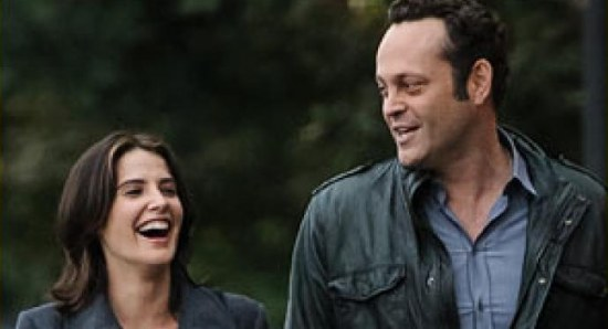 Cobie Smulders and Vince Vaughn in The Delivery Man