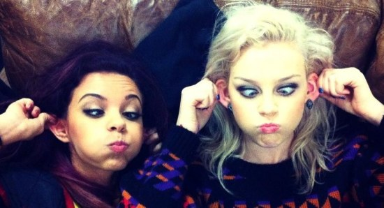 Perrie Edwards making a funny face