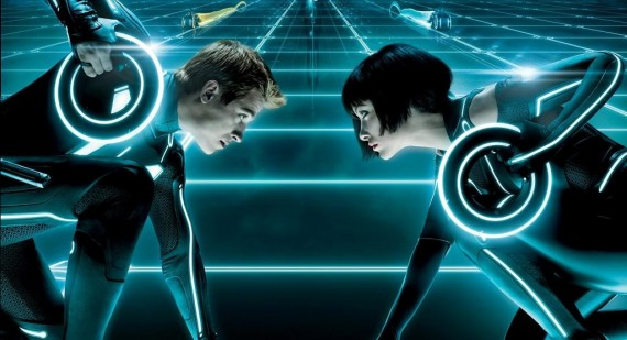How did they film Tron?