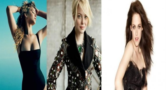 Jennifer Lawrence, Emma Stone, and Kristen Stewart all compete for IMDB's Top Stars of 2012