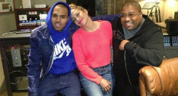 Jennifer Lopez rests her head on Chris Brown's shoulder amid collaboration rumors