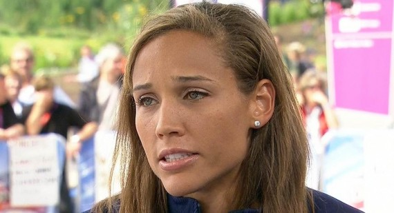 Lolo Jones shares set pic with Nicky Whelan on Left Behind