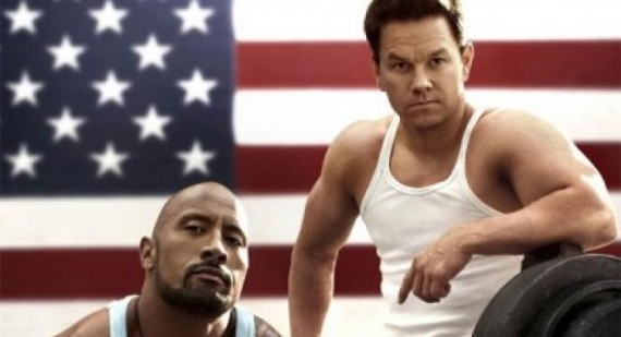 Mark Wahlberg and Dwayne Johnson in Pain and Gain trailer
