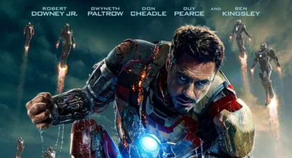 New Iron Man 3 Theatrical Poster released, features multiple Iron Men in the sky