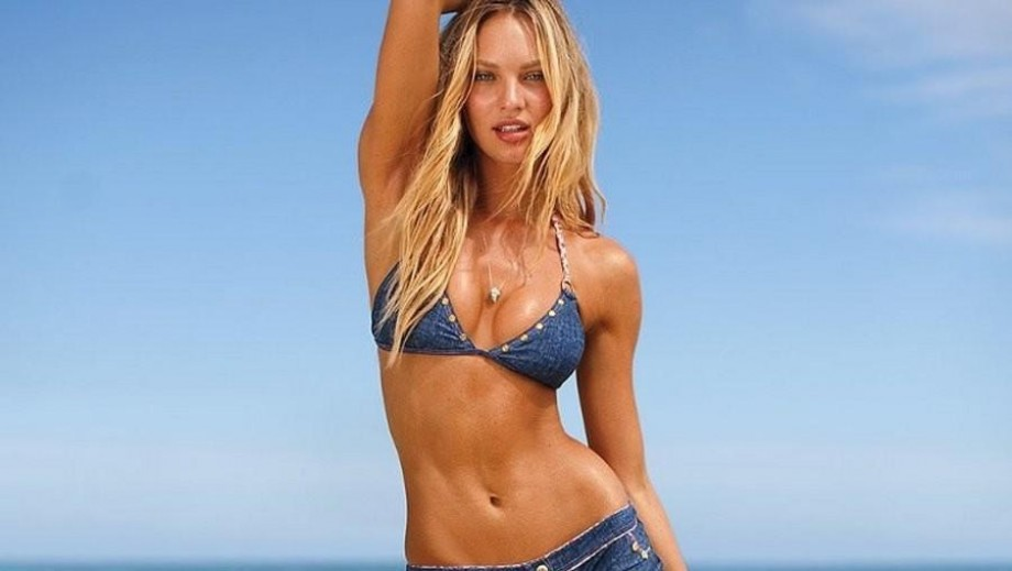Candice Swanepoel helps to promote World Water Day