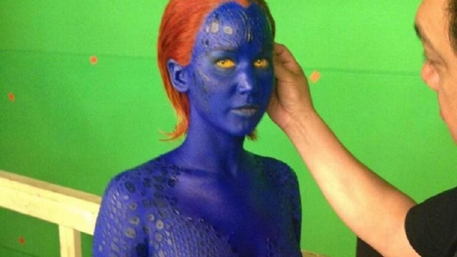 Jennifer Lawrence body paint time could effect Mystique standalone movie