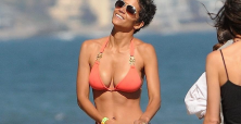 Halle Berry shines in her new lingerie line 'Scandale'