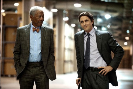 The Dark Knight Rises Christian Bale Morgan Freeman Batman