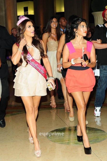 Kim Kardashian Celebrates Her Bachelorette Party At Tao In Vegas July Kourtney Kardashian Party