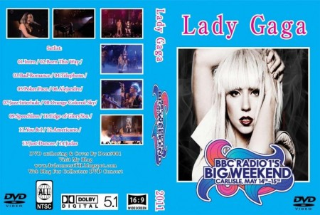 Dvd Cover Low Quality Ntsc Lady Gaga Live At Bbc Radio Big Weekend Live