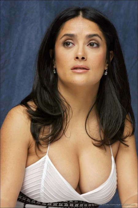 Salma Hayek White Dress
