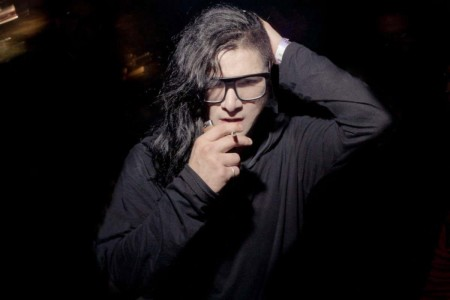 Skrillex Smoking